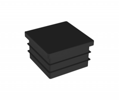 Заглушка-ножка чёрная для стойки 40х40мм Tp2